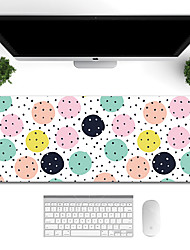 cheap -Large Cartoon Colored Gaming writing  Mouse Pad back to school gift office Non-Slip Base Water Resist Keyboard Pad Desk Mat