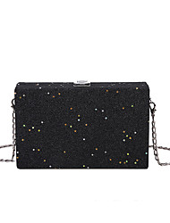 cheap -Women's Bags Polyester Evening Bag Sequin Chain Solid Colored Party Wedding Evening Bag Chain Bag Blue Purple Fuchsia Champagne