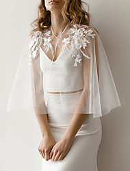 cheap -Sleeveless Elegant Lace Wedding Party Women's Wrap With Appliques / Solid