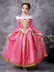 cheap -Kids Little Girls' Dress Multi Color Party / Evening K62 D62 Arlo Princess Long Sleeve Cosplay Dresses All Seasons 2-9 Years / Cotton
