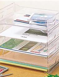 cheap -Plastic Back to school gift Multi-layer Large Capacity Desk Organizer Desktop Storage Box Pen Pencil Holder
