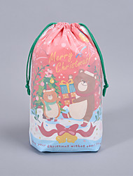 cheap -Foreign Trade Spot Double-layer Rope Bundle Pocket Christmas Packaging Gift Bag Pull Rope Closure Rope Bag Plastic Gift Bag