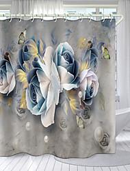 cheap -Artistic Flower Theme Series Digital Printing Shower Curtain Shower Curtains  Hooks Modern Polyester New Design
