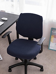 cheap -Computer Office Chair Cover Stretch Rotating Gaming Seat Slipcover Jacquard Elastic Green Blue Dust Cover Seat Cover Soft Durable Washable