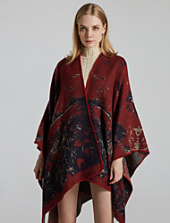 cheap -New style ladies shawl European and American fashion warm cloak autumn and winter jacquard cashmere scarf shawl one drop delivery 130x150CM