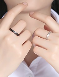 cheap -Couple Rings Geometrical S925 Sterling Silver Stylish Simple Unique Design 2pcs Adjustable / Couple's / Adjustable Ring