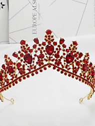 cheap -Bridal Crown Wedding Headdress Large Crown Prom Birthday Crown Hair Accessories Photo Studio Wedding Photo Accessories