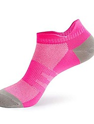 cheap -gym sport socks for men women gym basketball hiking cycling [3 pairs same colour] (pink, s [34-38])