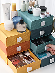 cheap -Office Storage Cosmetics Organizing Box Desk Drawer Type Storage Box Dormitory Artifact Desktop 20*20*7.5cm