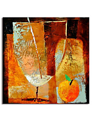 cheap -Oil Painting Handmade Hand Painted Wall Art Abstract Food Drink Wine in Cup Home Decoration Decor Stretched Frame Ready to Hang