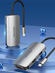 cheap -VENTION Support Power Delivery Function TOAHB USB 3.0 USB C to VGA USB 3.0 HDMI USB Hub 4 Ports For Windows, PC, Laptop
