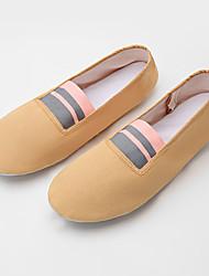 cheap -Girls' Ballet Shoes Flat Flat Heel Brown Gore