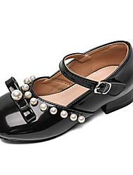 cheap -Girls' Flats Flower Girl Shoes Formal Shoes Princess Shoes Rubber PU Waterproof Portable Air Mattresses / Air Shoes Dress Shoes Little Kids(4-7ys) Big Kids(7years +) Daily Party & Evening Walking