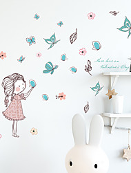 cheap -Cartoon Wall Stickers Bedroom / Living Room Removable PVC Home Decoration Wall Decal 1pc 45*60CM