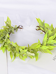 cheap -Spring And Summer Forest Green Leaf Wreath Simulation Leaves Hand-made Girl Children's Performance Photo Headdress