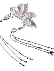 cheap -Antique Headdress Handmade Leaves Tassel Hairpin Super Immortal Beautiful Hairpin Light Luxury Accessories