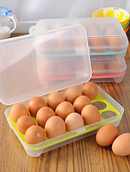 cheap -15 Grids Egg Storage Box Egg Tray Containers Refrigerator Egg Plastic Dispenser Airtight Fresh Preservation Kitchen Accessories Set of 1-3