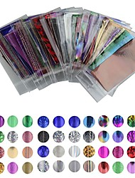 cheap -50 Pcs Nail Foil Striping Tape Nail Art Manicure Pedicure Lovely Cartoon Punk Fashion Daily Foil Stripping Tape