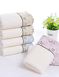 cheap -1 Pc 100% Cotton Premium Ring Spun Hand Kitchen Shower Towel(Set) Machine Washable Super Soft Highly Absorbent Quick Dry For Bathroom Hotel Spa Floral 34*74cm