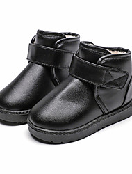 cheap -Girls' Boots Toddler Shoes Bootie PVC Leather Casual / Daily Snow Boots Big Kids(7years +) silver black red Fall & Winter