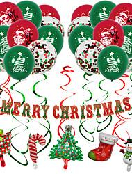 cheap -Christmas Balloon Package Christmas Christmas New Pull Flag Banner Spiral Ornament Christmas Balloon