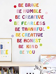 cheap -wall decal colorful sticker encouragement saying be you / be creative / be kind / be brave / be honest / be humble / be thankful / be fearless sticker for bedroom living room art decoration