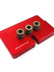 cheap -Aluminum Alloy Woodworking Punch Locator Hole Opener Log Tenon Punch Red