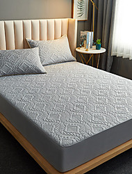 cheap -Cross-border Foreign Trade Quilted Waterproof Bed Sheet One-piece Sanding Bed Cover Urine-isolating Mattress Cover Simmons Protective Cover Bed Cover Cover