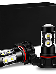 cheap -OTOLAMPARA High Output 50W LED Fog Lights H16 6500K Xenon White Spot Lens Focus 360 Degrees Lightness PS24W 5202 5201 9009 PS19W 12085LLC1 12085 12086 PS24WFF Fog Lights 2pcs