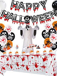 cheap -Halloween Balloon Set Blood Color Banner Paper Honeycomb Three-dimensional Ghost Package Ghost Festival Party Decoration