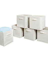 cheap -6PCS High Quality Non-woven Fabrics Storage Boxes Beige