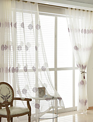cheap -Two Panel American Style Rich Tree Embroidered Window Screen Living Room Bedroom Dining Room Children's Room Translucent Tulle