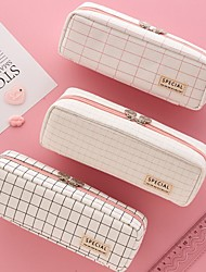 cheap -Pencil pen Case box back to school gift Popular Simple Stationery Bag Holder zippe  21*5.5*6 cm