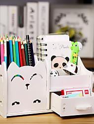 cheap -Multifunctional Pen Holder Korean Creative Cartoon Small Fresh Student Stationery Desktop Sorting Storage Box Office Storage Box