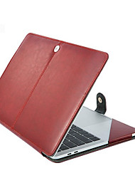cheap -11.6 Inch Laptop / 12 Inch Laptop / 13.3 Inch Laptop Sleeve PU Leather / Polyurethane Leather Solid Color / Leather for Men for Women for Business Office Waterpoof