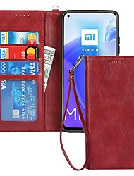 cheap -Phone Case For Xiaomi Full Body Case Mi 10T 5G Redmi Note 9 4G Redmi Note 9 5G Redmi Note 10 Card Holder Shockproof Dustproof Solid Colored PU Leather