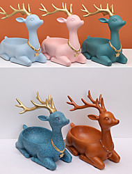 cheap -Cute Resin Doe Fawn Desk Decor Animals Figurines storage table organizer