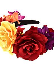 cheap -1 Piece Simulation Rose Hair Accessories Bridal Wedding Headband Wreath Fabric Atmosphere