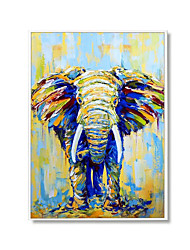 cheap -Oil Painting Handmade Hand Painted Wall Art Vertical Modern Elephant Animal Picture Home Decoration Decor Rolled Canvas No Frame Unstretched