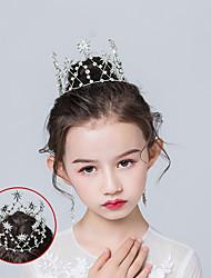 cheap -Girls Golden Princess Crown Baroque Jewelry Performance Dress Bride Wedding Dress Wedding Jewelry Headdress Hair Buckle