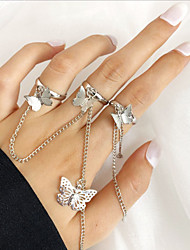 cheap -Butterfly Adjustable Ring Link / Chain Gold Alloy Butterfly Stylish Unique Design Punk Adjustable