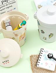 cheap -stylish desktop storage bucket back to school creative student sundries cosmetics trash can 10*18.2cm