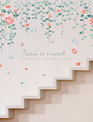 cheap -Flower Vine Flower Sea Wall Stickers Living Room Bedroom Wall Background Decorative Stickers Wholesale Can Be Removed Decoration 60*90cm