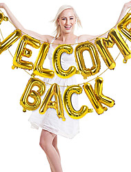 cheap -Welcome Back Letter Set Welcome Home Aluminum Foil Balloon Christmas Day Party Decoration