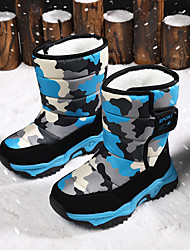 cheap -Boys and Girls Boots Mid-Calf Boots Snow Boots PVC Leather Casual / Daily Snow Boots Big Kids(7years +) Grey camouflage Nine Red Dark blue red Winter