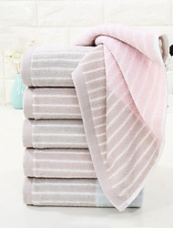 cheap -1 Pc 100% Cotton Premium Ring Spun Hand Kitchen Shower Towel(Set) Machine Washable Super Soft Highly Absorbent Quick Dry For Bathroom Hotel Spa Stripe  34*72cm