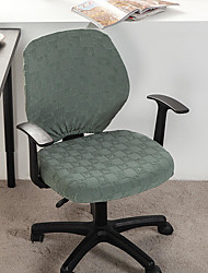 cheap -Computer Office Chair Cover Stretch Rotating Gaming Seat Slipcover Jacquard Elastic Grey Green Dust Cover Seat Cover Soft Durable Washable