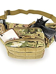 cheap -gun holster fanny pack for men women, concealed carry pistol pouch waist bag fits handguns 1911 glock phone holder belt edc anti-theft pocket camping hiking hunting accessory bags (cp camouflage)