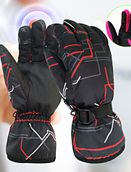 cheap -Ski Gloves Snow Gloves for Men Touchscreen Thermal Warm Waterproof PU Leather Full Finger Gloves Snowsports for Cold Weather Winter Skiing Snowboarding