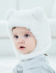 cheap -New Baby Ear Protection Bear Baotou Hats For Boys And Girls Hat Manufacturers Wholesale Solid Color Plush Children's Ear Caps